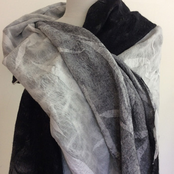 Double Faced Nuno Felted Shawls